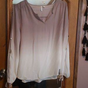 Ombre Open Sleeve Blouse